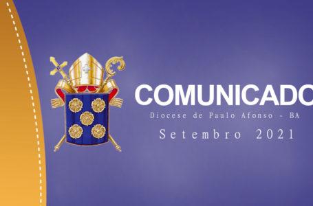 Comunicado de Nomeações e Reconhecimentos (Setembro 2021)